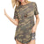 First Love Women's Camo Knit Top - Army Green
