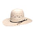 Twister Men's Shantung 20X Triangle Vent Open Straw Cowboy Hat - White