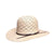 Twister Men's Shantung 10X Checkered Vent Open Straw Cowboy Hat - Tan