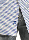 Panhandle Tuf Cooper Blue Poplin Print Men's Button Down