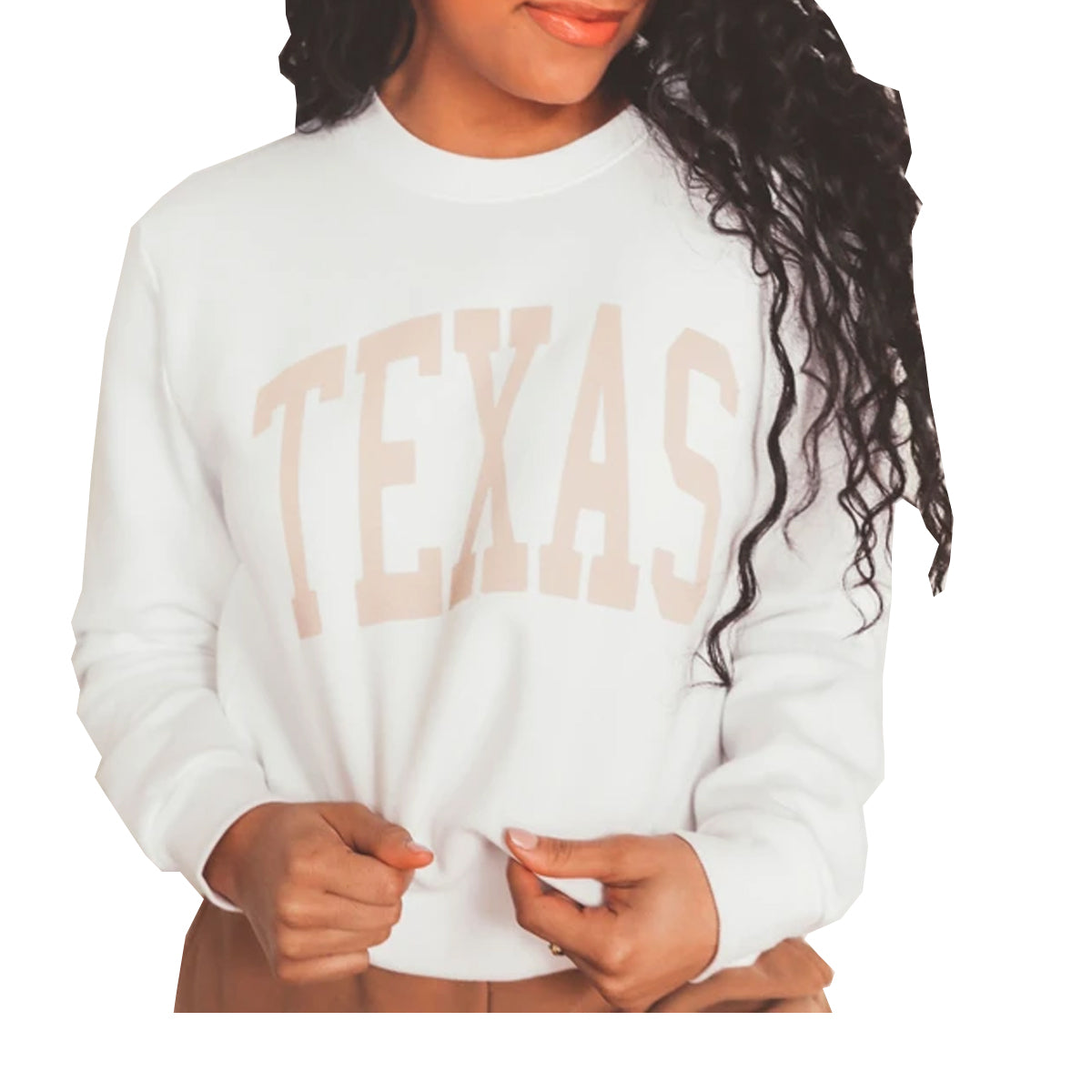 Charlie Southern Women's Texas Neutral Feels Sweatshirt - White