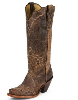 Tony Lama Women's Tan Saigets Worn Goat