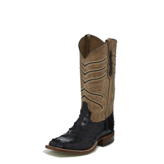 Men's Black Hermoso Full Quill Boot