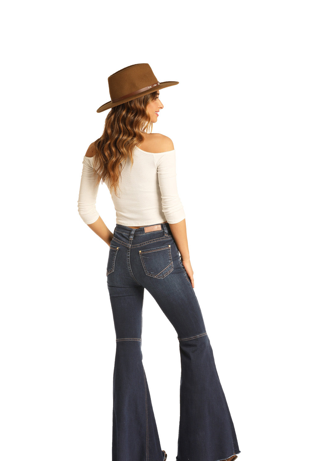 Rock & Roll Cowgirl High Rise Dark Wash Bell Bottoms