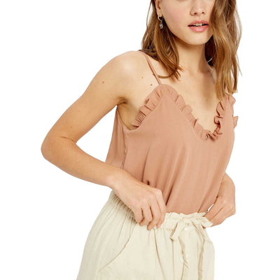 Wishlist Women's Ruffled Hem Cami Top