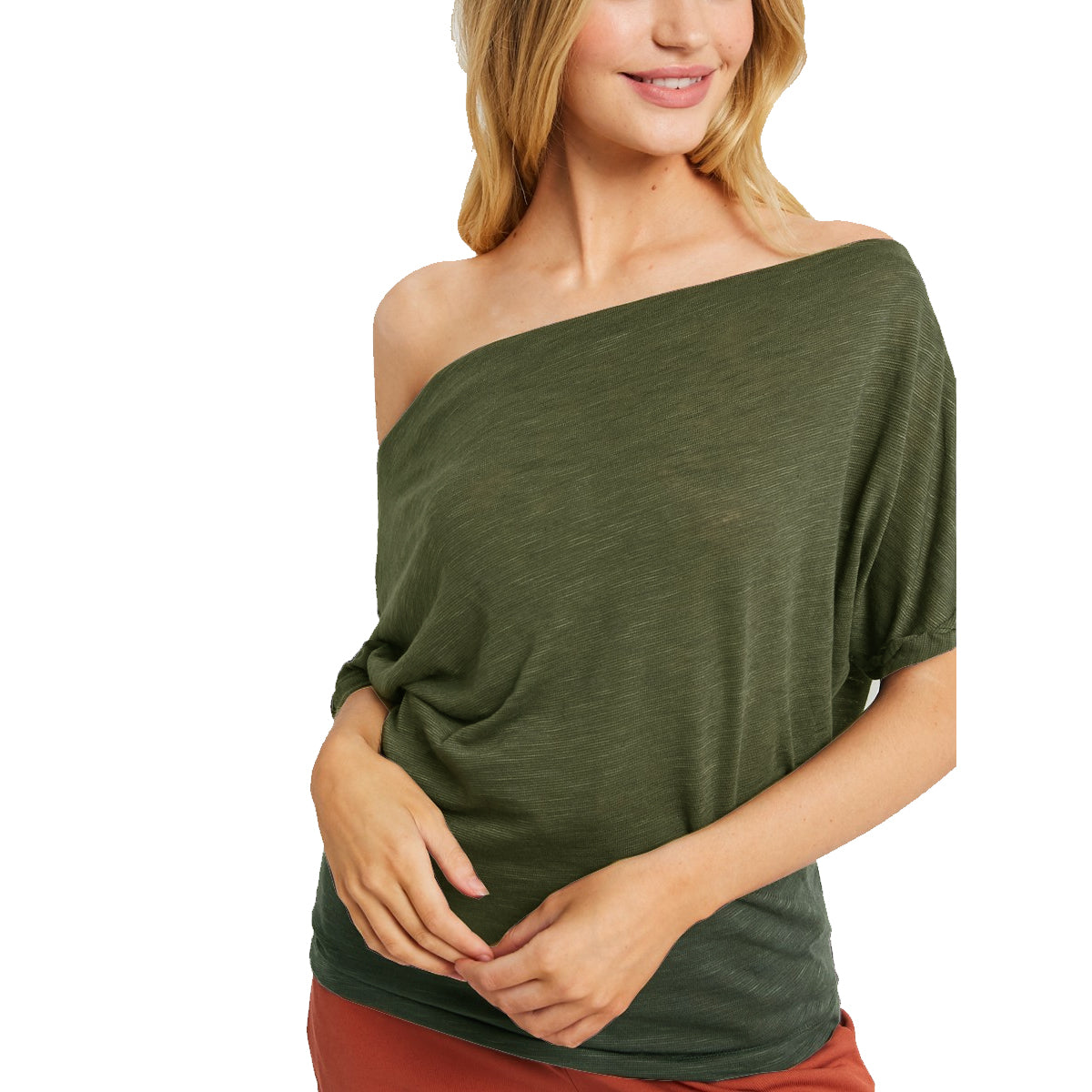 WishList Women's Knit Off The Shoulder Top