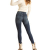 Rock & Roll Denim Juniors Mid Rise Skinny Jeans - Medium Wash