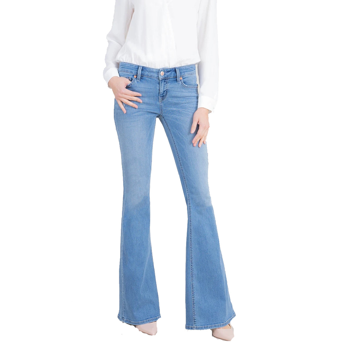 Level99 Women's Dahlia Flare Jeans - Vintage Blue