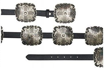 Angel Ranch Black with Silver Concho Women's Belt