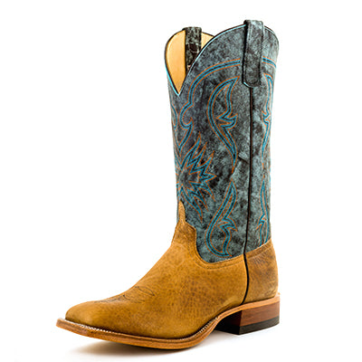 Anderson Bean Distressed American Bison Aqua Top Boot