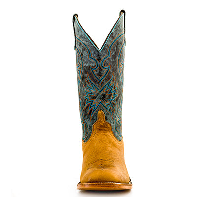 Anderson Bean Distressed American Bison Aqua Top Boots