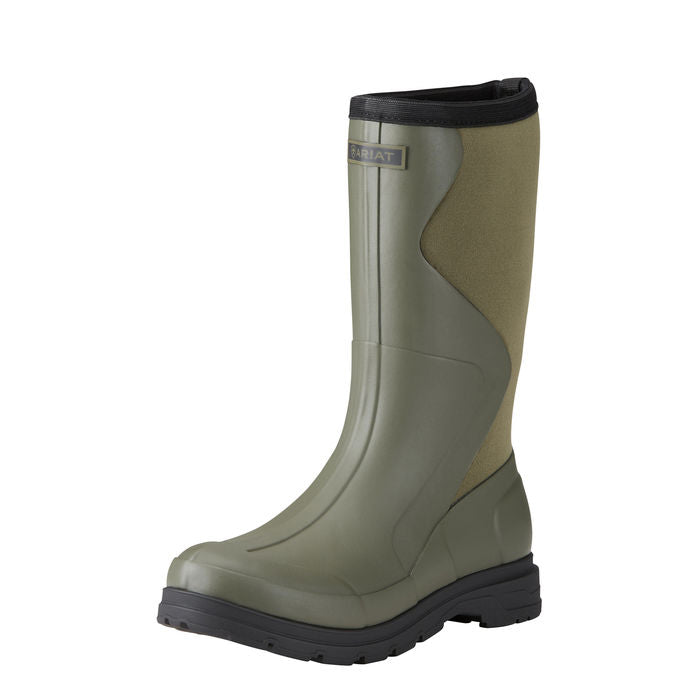 Women's Ariat Springfield Waterproof Olive Rubber Work Boot