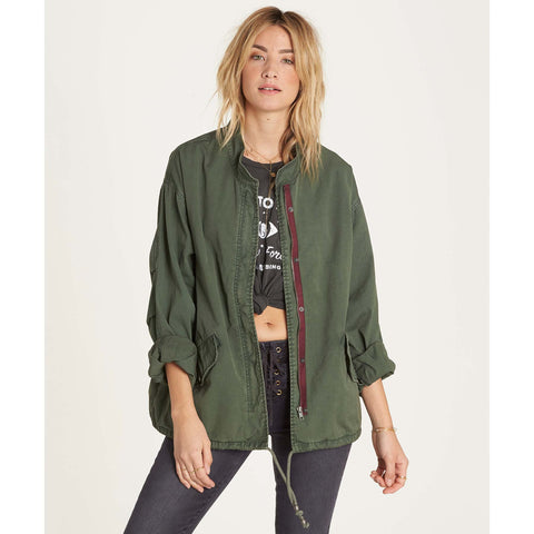 Olive Army Of One Jacket By Billabong