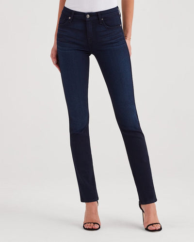 7 For All Mankind B(air) Denim The Kimmie Straight in Blue Black River Thames