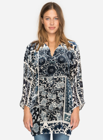 OTIS VELVET TUNIC BY JOHNNY WAS