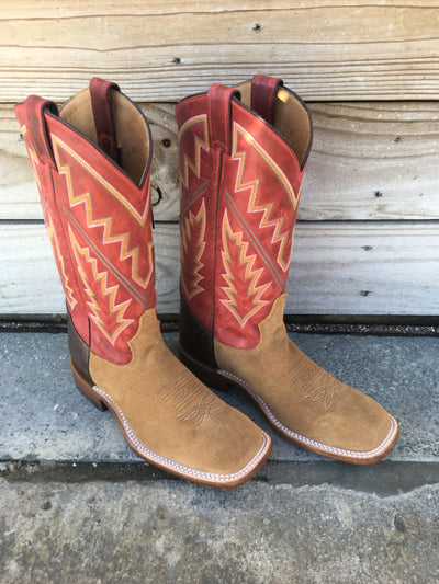 Men's Tony Lama Bingham Tan Rough Out Boot