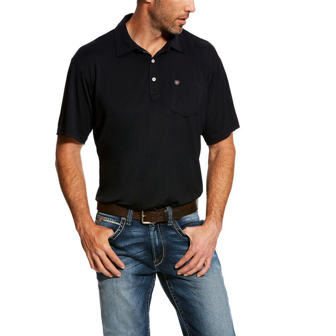 Ariat Freeze Point Black Short Sleeve Men's Polo Shirt