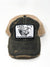 Lazy J Black & Tan Unstructured Headquarters Patch Cap