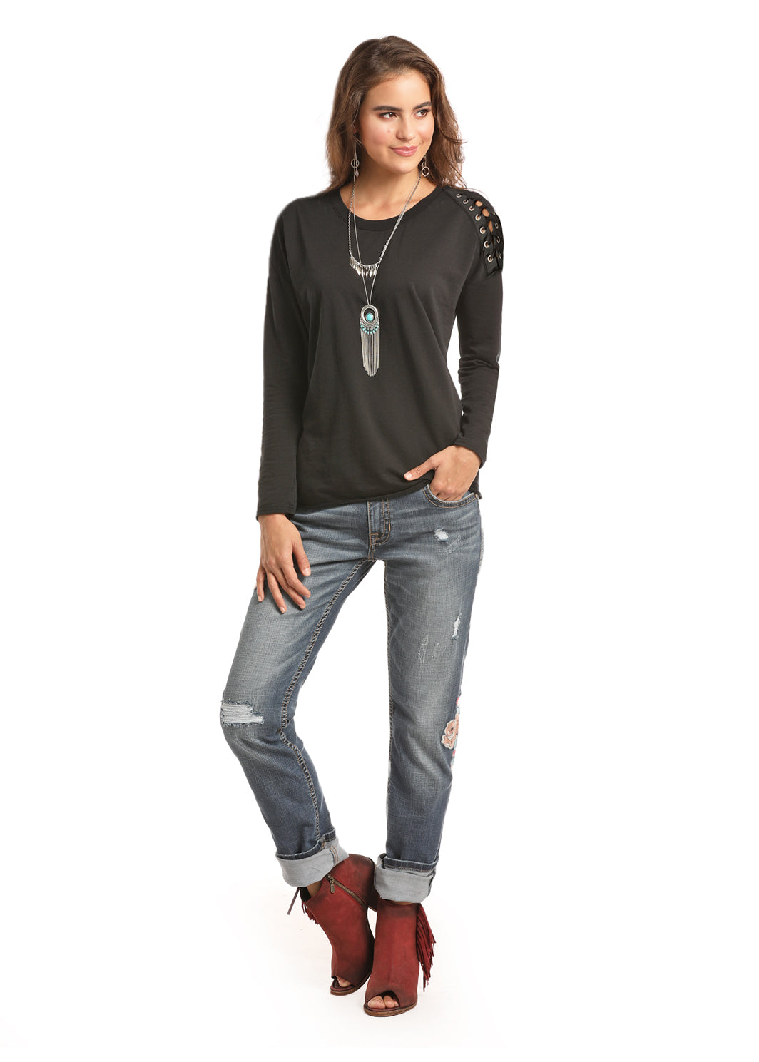 Women's Long Sleeve Top By Panhandle Slim