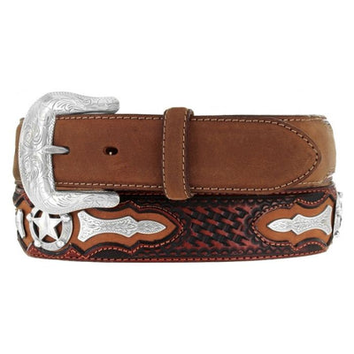 Justin Odessa Star Men's Western Belt - Lazy J Ranch Wear