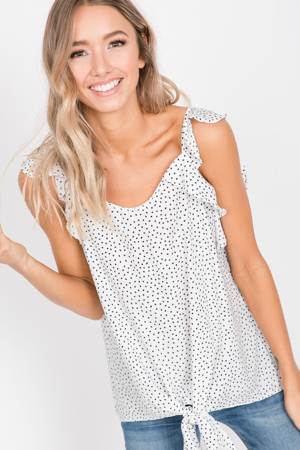 Hailey & Co Polka Dot Top