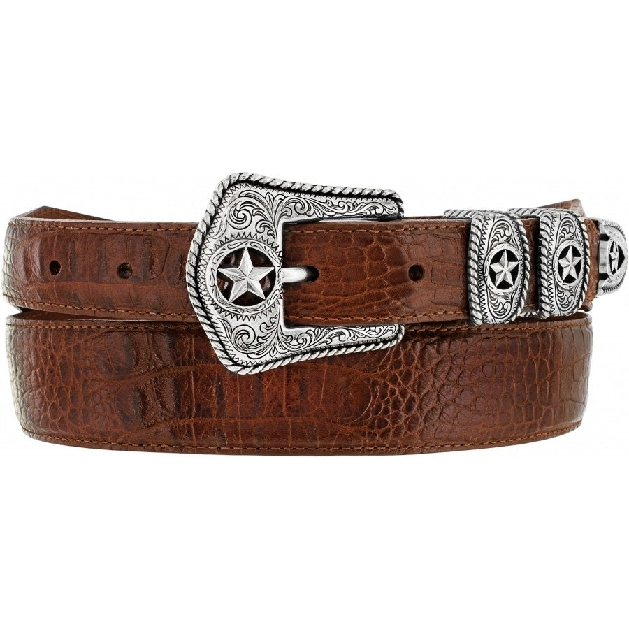 Tony Lama Men's Tan Country Crocodile Print Belt