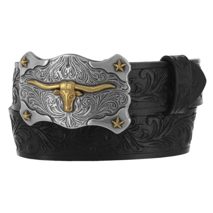 Justin Little Texas Children's Leather Belt