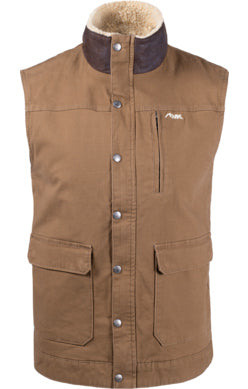 Mountain Khaki Tobacco Ranch Shearling Men's Vest