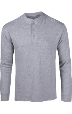 Mountain Khaki Heathered Gray Trapper Henley Men's Shirt