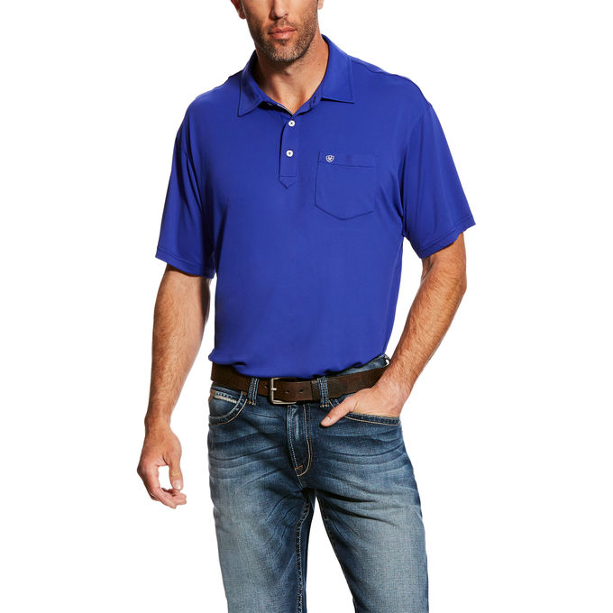 Ariat Freeze Point Clem Blue Men's Polo