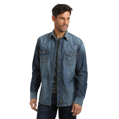 Wrangler Retro Denim Men's Pearl Snap