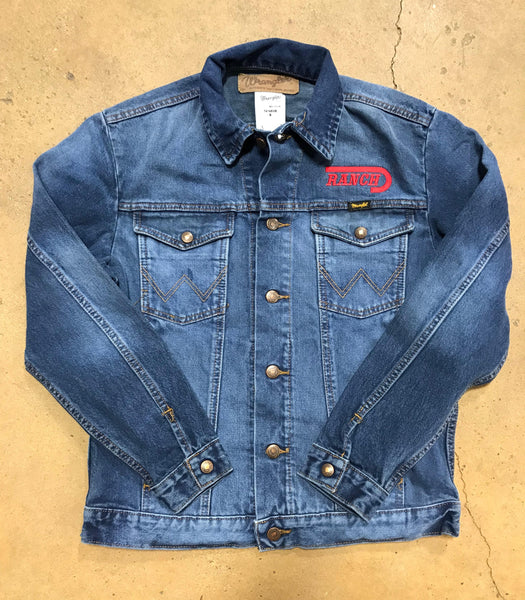 Wrangler Denim Jacket W/ Lazy J Ranch Logo