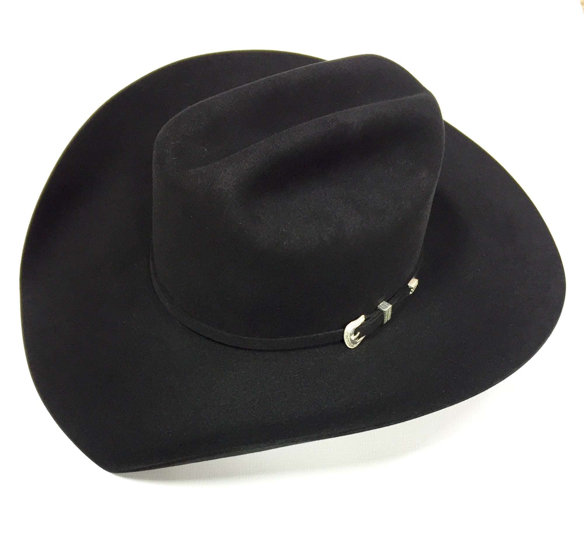 Black 7X 4 1/4 Brim Felt Hat by American Hat Co.
