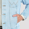 Lazy J Ranch Wear Retro J Ranch Bleached Denim Wrangler Jacket