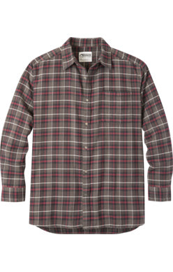 Mountain Khaki Coffee Plaid Peden Men's Flannel Button Down
