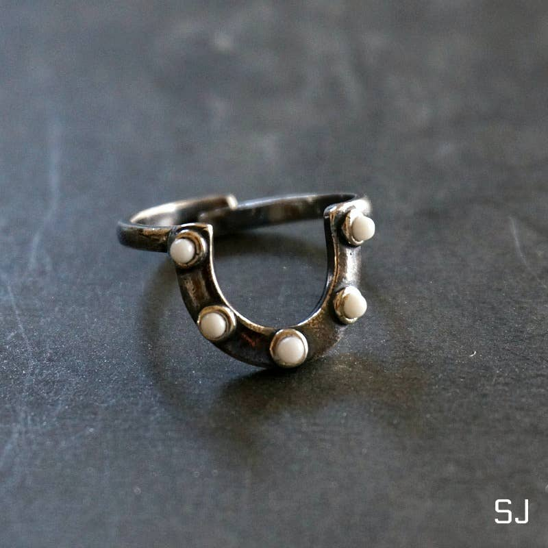 Horseshoe Silver Ring