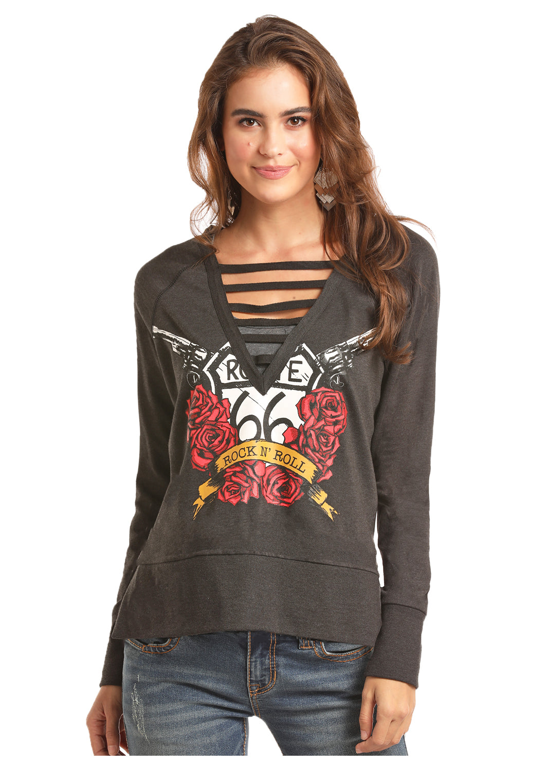 Women's Sweat Shirt Top By Rock & Roll Cowgirl