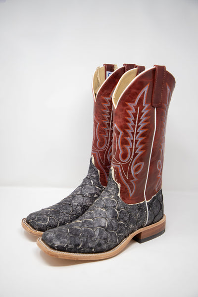 Lazy J Exclusive Men's Slick Bass Fish Red Explosion Men's Boot