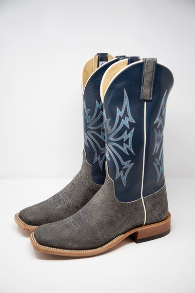 Lazy J Exclusive Anderson Bean Blue Giraffe and Kidskin Men's Boot