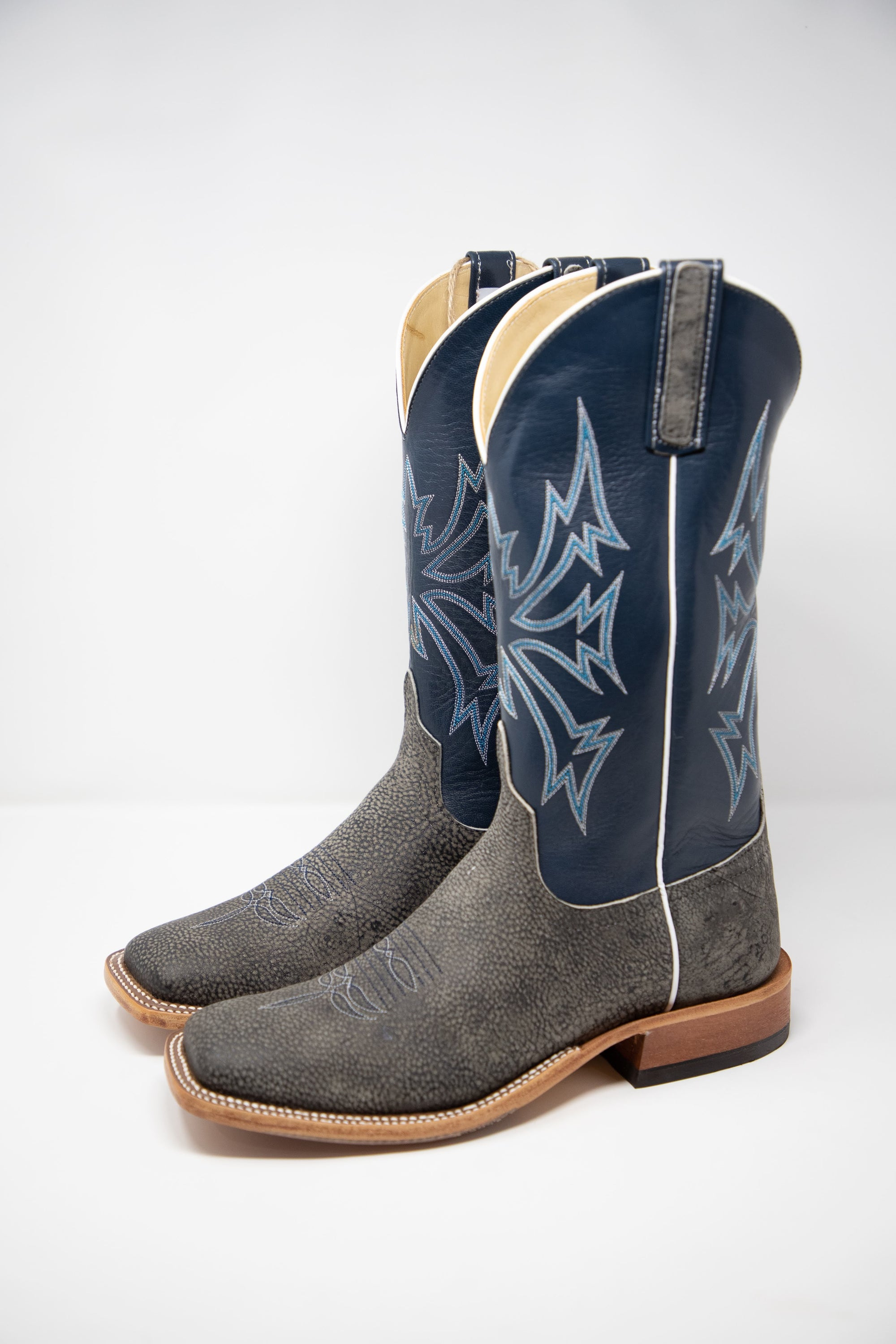 Anderson Bean Blue Giraffe and Kidskin Men's Boot