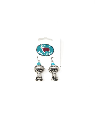 Silver and Turquoise Earring