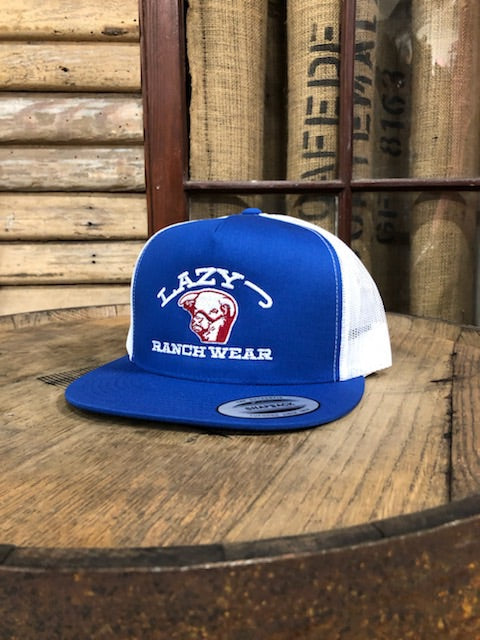 Lazy J Ranch Wear Embroidered Show Bull Royal Blue LJRW Cap