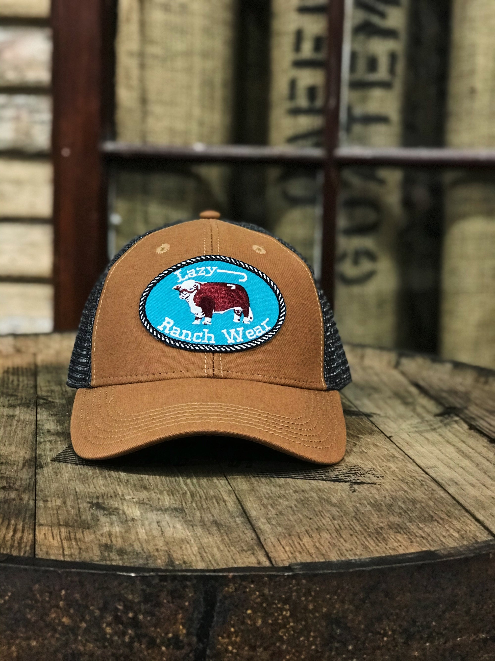 Lazy J Ranch Wear Whiskey Grey Original Patch Cap