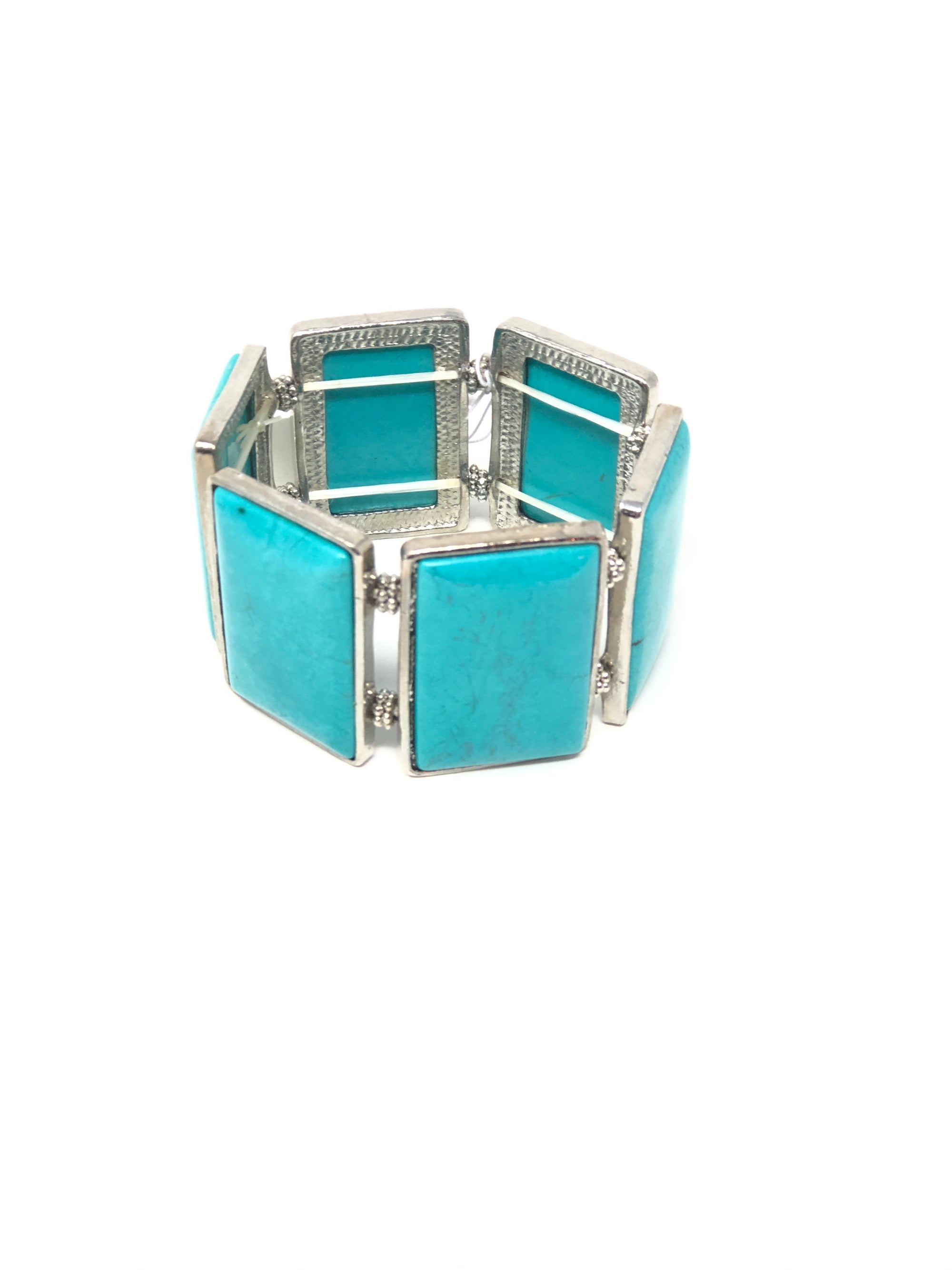 Rectangle Turquoise Bracelet Cuff