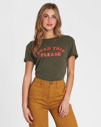 Road Trip Please Graphic Tee By Billabong