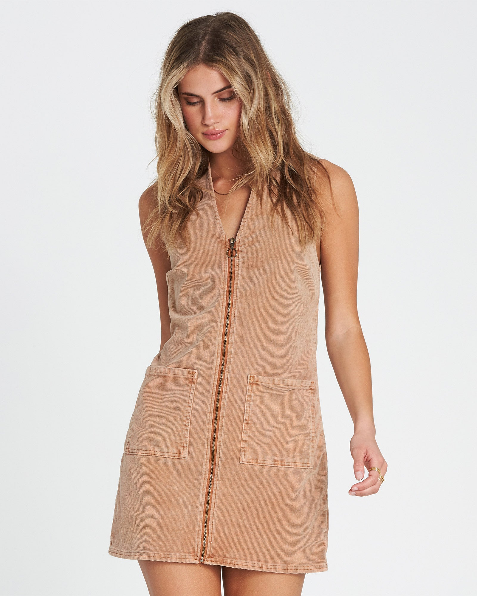 FOXY CORDUROY MINI DRESS By Billabong