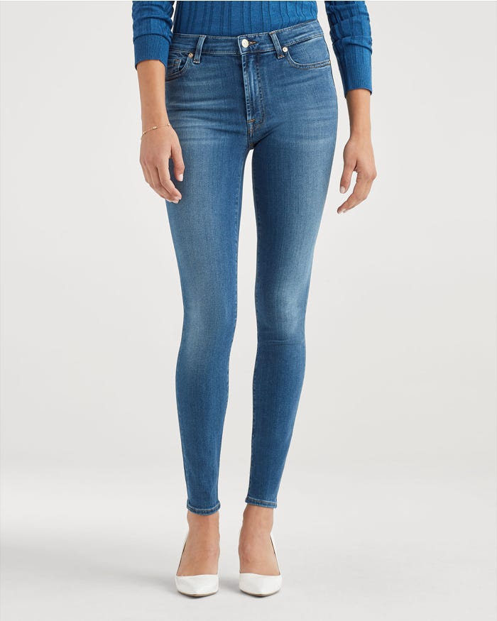 Slim Illusion High Waist Ankle Skinny in Luxe Love Story
