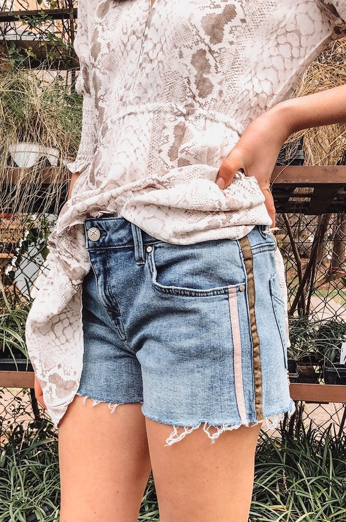 Unpublished Laine Dash Denim Stripe Short