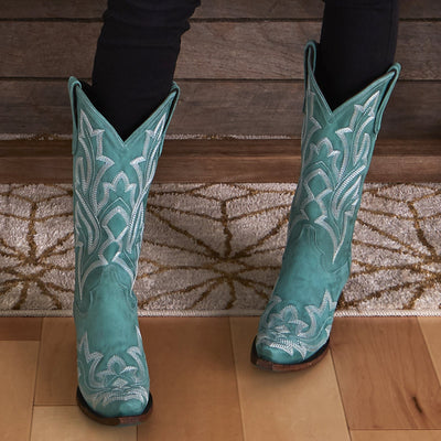 Lane Boots Taos Turquoise Saratoga Women's Boot