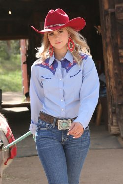 Cruel Denim Women's Pearl Snap Western Shirt